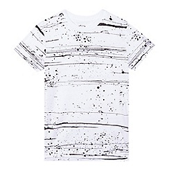 bluezoo - Boys' white paint splatter print t-shirt