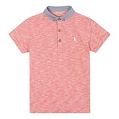 bluezoo - Boys' red chambray polo shirt