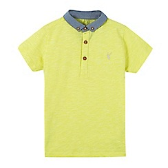 bluezoo - Boys' yellow chambray collar polo shirt