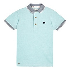 J by Jasper Conran - Boys' green birdseye polo shirt