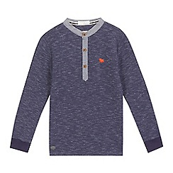 J by Jasper Conran - Boys' navy textured granddad top
