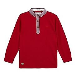 J by Jasper Conran - Boys' red checked trim polo shirt