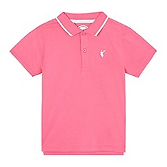 bluezoo - Boys' pink and white polo shirt