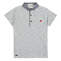 J by Jasper Conran - Boys' white slub striped polo shirt