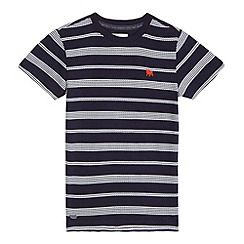 J by Jasper Conran - Boys' navy wave-effect striped print t-shirt