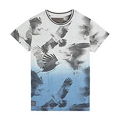 RJR.John Rocha - Boys' grey ombre-effect bird print t-shirt