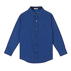 RJR.John Rocha - Boys' blue gingham checked shirt