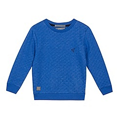 RJR.John Rocha - Boys' blue quilted sweatshirt