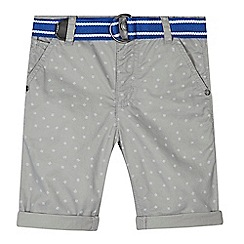 RJR.John Rocha - Boys' grey geometric striped square belted shorts