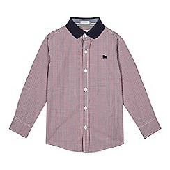 J by Jasper Conran - Boys' red textured collar checked shirt