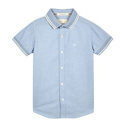 J by Jasper Conran - Boys' blue polka dot shirt