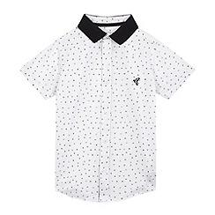 RJR.John Rocha - Boys' white geometric print shirt