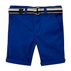 RJR.John Rocha - Boys' blue belted chino shorts