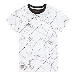 RJR.John Rocha - Boys' white marble print t-shirt