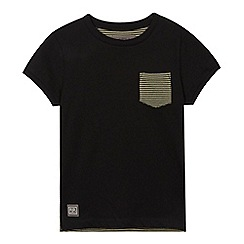 RJR.John Rocha - Boys' black striped back t-shirt