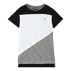 RJR.John Rocha - Boys' white asymmetric colour block t-shirt
