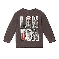 bluezoo - Boys' dark grey 'London' sweatshirt