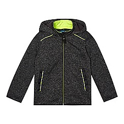 bluezoo - Boys' grey neon trim zip through fleece