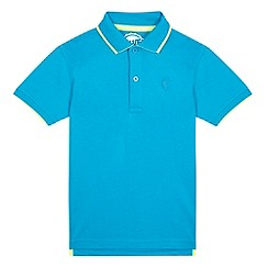 bluezoo - Boys' blue contrast polo shirt