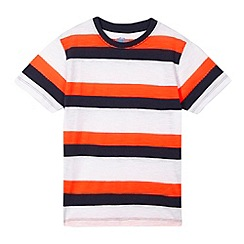 bluezoo - Boys' navy striped t-shirt