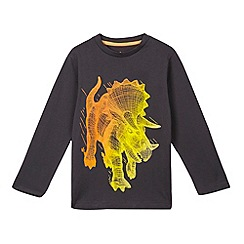 bluezoo - Boys' grey wire triceratops top