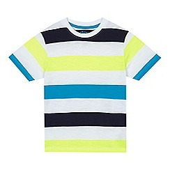 bluezoo - Boys' white neon striped t-shirt