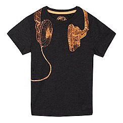 bluezoo - Boys' grey headphone print t-shirt