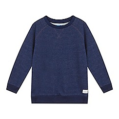 bluezoo - Boys' navy textured raglan sweat top