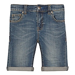bluezoo - Boys' blue vintage wash denim shorts