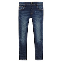bluezoo - Boys' dark blue super skinny jeans