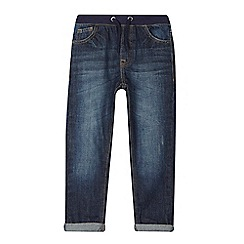bluezoo - Boys' dark blue slim fit ribbed waist jeans