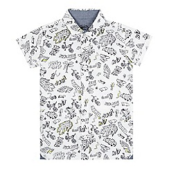 bluezoo - Boys' white skater print shirt
