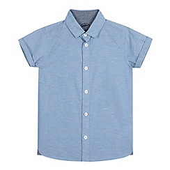 bluezoo - Boys' blue space dye Oxford shirt