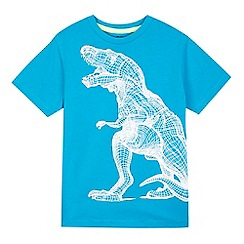 bluezoo - Boys' blue dinosaur sketch print t-shirt