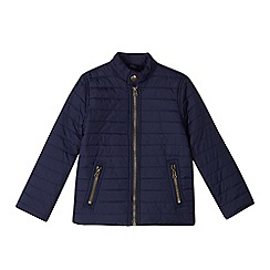 bluezoo - Boys' navy quilted jacket