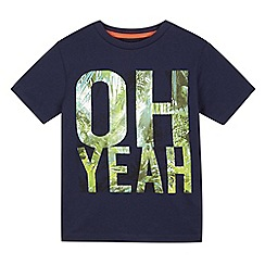 bluezoo - Boys' navy 'Oh Yeah' t-shirt