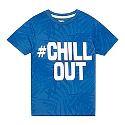 bluezoo - Boys' blue '#chill out' print t-shirt