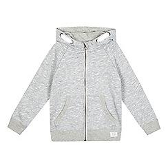 bluezoo - Boys' grey zip hoodie