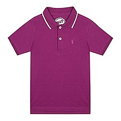 bluezoo - Boys' purple deer embroidered polo shirt