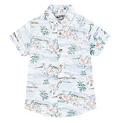 bluezoo - Boys' multi-coloured surf print buttoned shirt