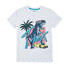 bluezoo - White T-Rex print t-shirt