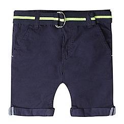 bluezoo - Girls' navy chino belted shorts