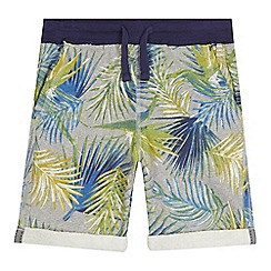 bluezoo - Boys' grey tropical print sweat shorts