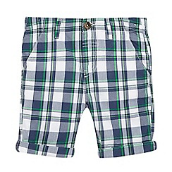 bluezoo - Boys' green checked print shorts