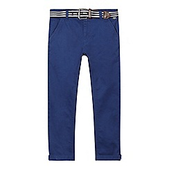J by Jasper Conran - Boys' blue belted slim trousers