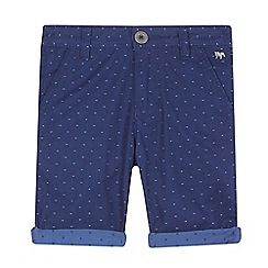 J by Jasper Conran - Boys' blue square print shorts