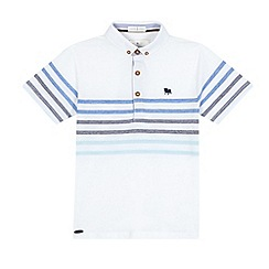 J by Jasper Conran - Boys' white striped print polo shirt