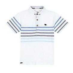 J by Jasper Conran - Boys' white striped print polo shirt
