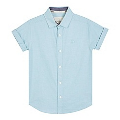 J by Jasper Conran - Boys' pale blue textured shirt