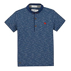 J by Jasper Conran - Boys' blue slub striped polo shirt